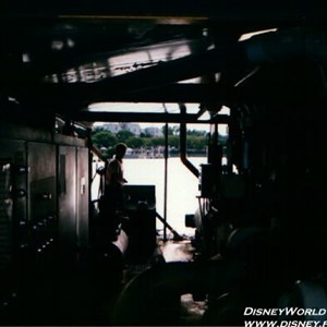 13 of 37: IllumiNations - Inside the Maxi Barge. A housing for control equipment, and also a bunker for technicians to remain on the barge during the show.