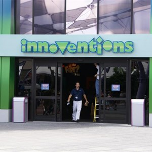 1 of 2: Innoventions - New entry sign progress