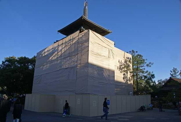 Japan Pagoda building refurbishment