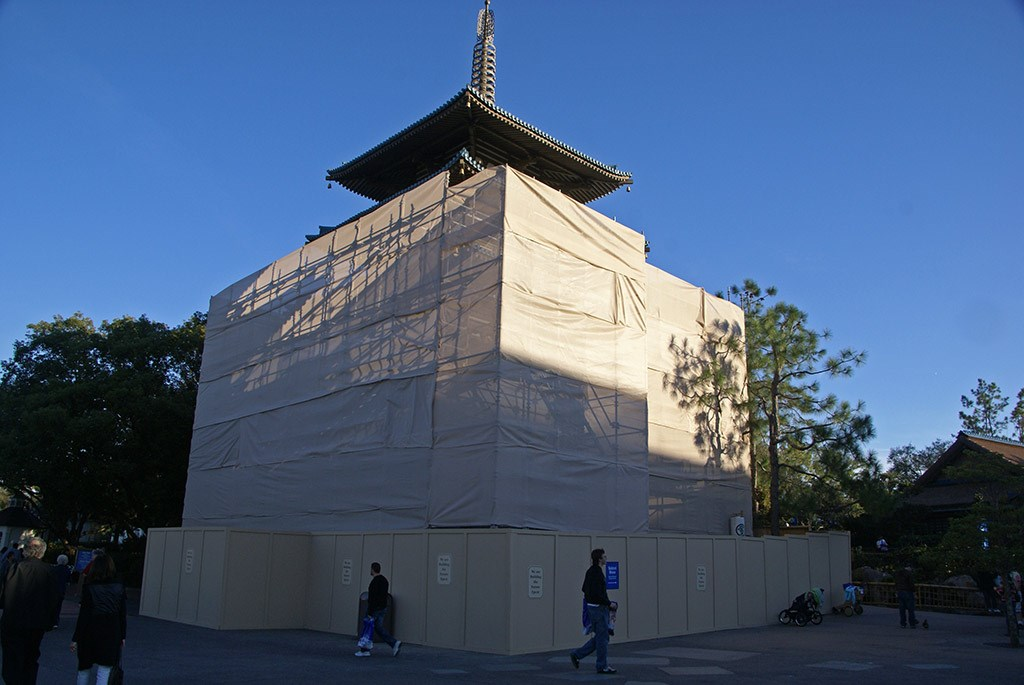 Japan Pagoda building refurbishment