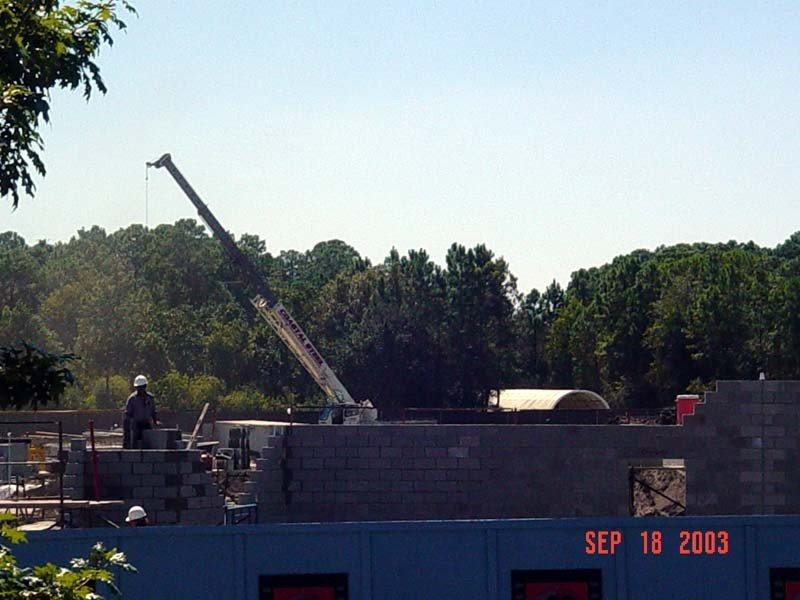 Lights, Motors, Action construction going vertical
