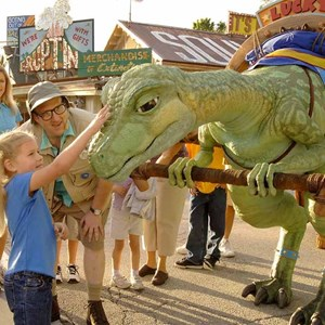 1 of 2: Lucky - Lucky makes some test appearances in DinoLand