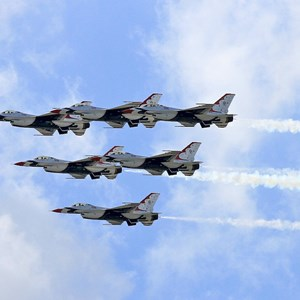 1 of 3: Magic Kingdom - US Air Force Thunderbirds fly over the Magic Kingdom