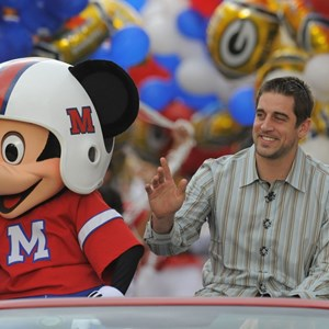 1 of 2: Magic Kingdom - Super Bowl XLV Most Valuable Player Aaron Rodgers motorcade