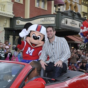 2 of 2: Magic Kingdom - Super Bowl XLV Most Valuable Player Aaron Rodgers motorcade