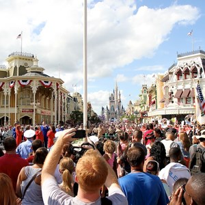 6 of 21: Magic Kingdom - F18 jets and 'Extreme Makeover - Home Edition' taping