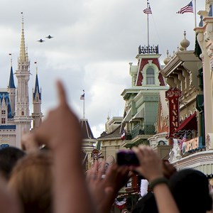 8 of 21: Magic Kingdom - F18 jets and 'Extreme Makeover - Home Edition' taping