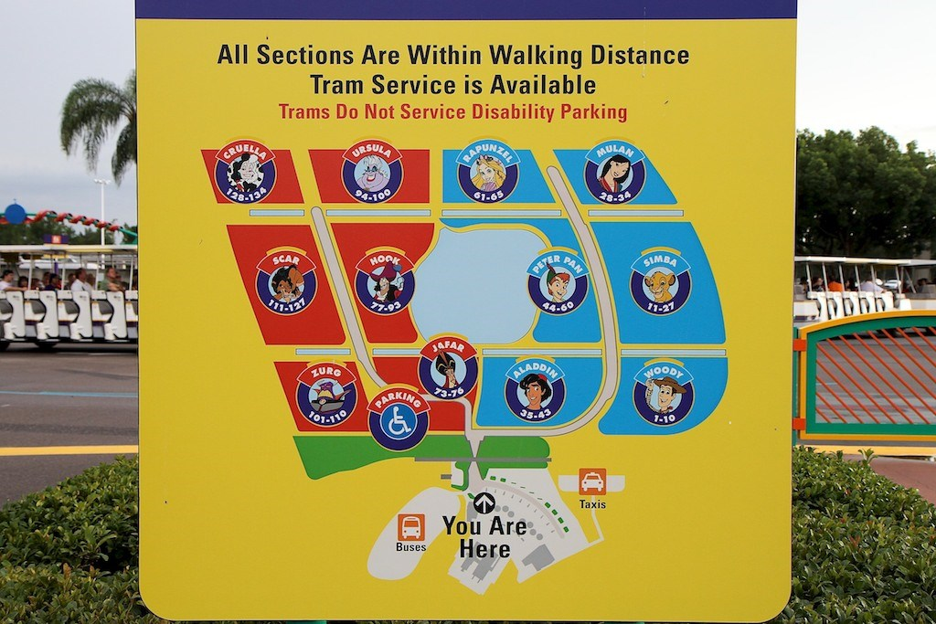New Magic Kingdom TTC Parking layout