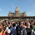Magic Kingdom - Crowds gather at the entrance to the Magic Kingdom to see the welcome show