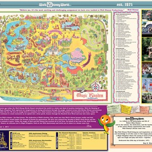 11 of 12: Magic Kingdom - Special vintage edition of the park's guidemap. Copyright 2011 The Walt Disney Company.