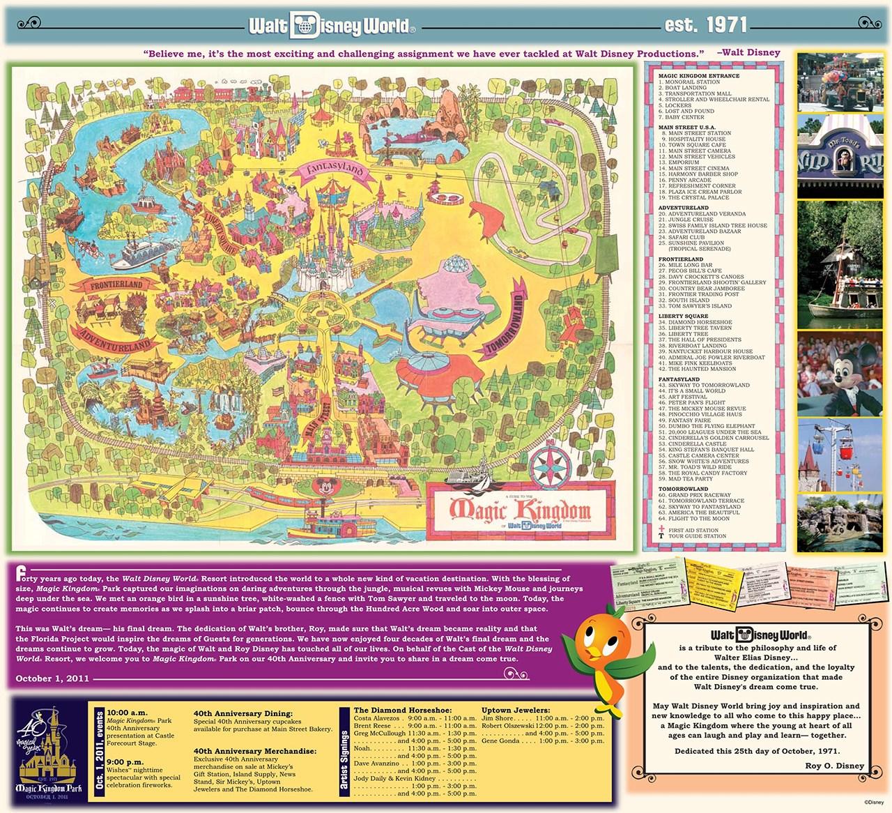 Magic Kingdom 40th Anniversary