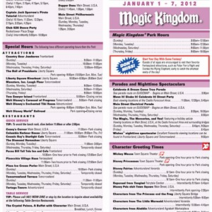 1 of 2: Magic Kingdom - New Times Guide format