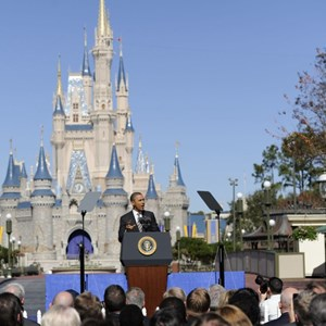 1 of 3: Magic Kingdom - President Obama visit