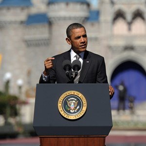 2 of 3: Magic Kingdom - President Obama visit