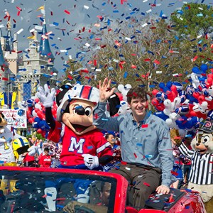 1 of 1: Magic Kingdom - New York Giants quarterback Eli Manning at the Magic Kingdom