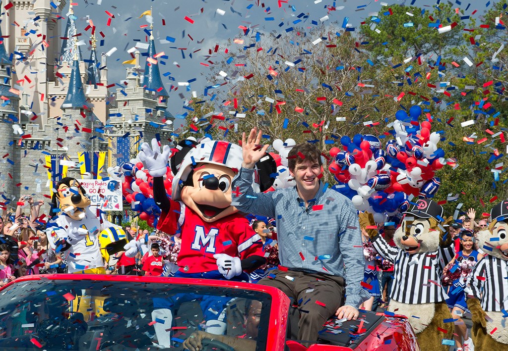 New York Giants quarterback Eli Manning at the Magic Kingdom
