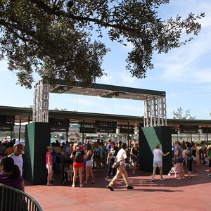 1 of 4: Magic Kingdom - Magic Kingdom turnstile area construction - RFID