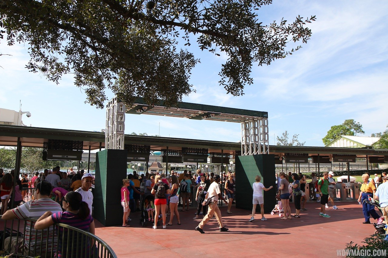 Magic Kingdom turnstile area construction - RFID