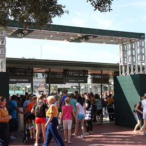 2 of 4: Magic Kingdom - Magic Kingdom turnstile area construction - RFID