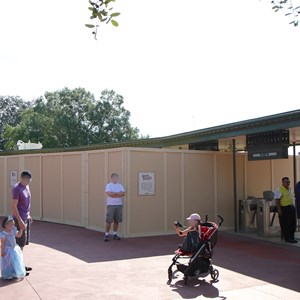 3 of 4: Magic Kingdom - Magic Kingdom turnstile area construction - RFID