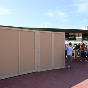 4 of 4: Magic Kingdom - Magic Kingdom turnstile area construction - RFID