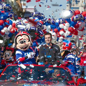 1 of 3: Magic Kingdom - Super Bowl MVP Joe Flacco motorcade at the Magic Kingdom