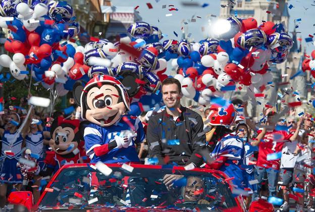 Super Bowl MVP Joe Flacco motorcade
