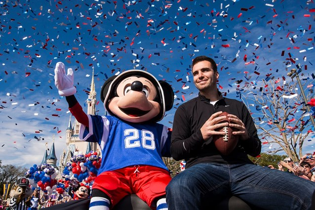 Magic Kingdom - Super Bowl MVP Joe Flacco motorcade at the Magic Kingdom