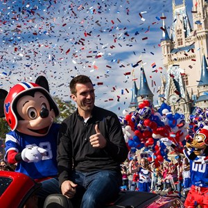 3 of 3: Magic Kingdom - Super Bowl MVP Joe Flacco motorcade at the Magic Kingdom