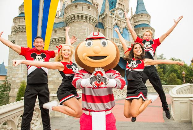 Ohio State University mascot Brutus Buckeye at the Magic Kingdom