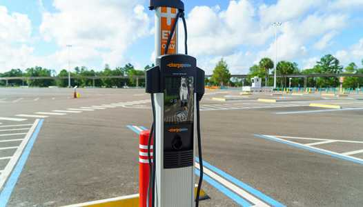 PHOTOS - Electric vehicle charging stations coming to the Magic Kingdom TTC parking lot