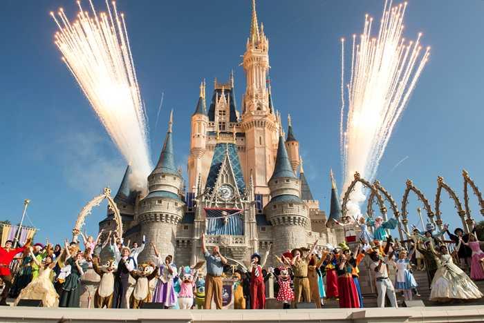 Walt Disney World 45th celebration at Cinderella Castle
