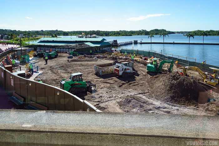 Magic Kingdom Ferry dock area construction