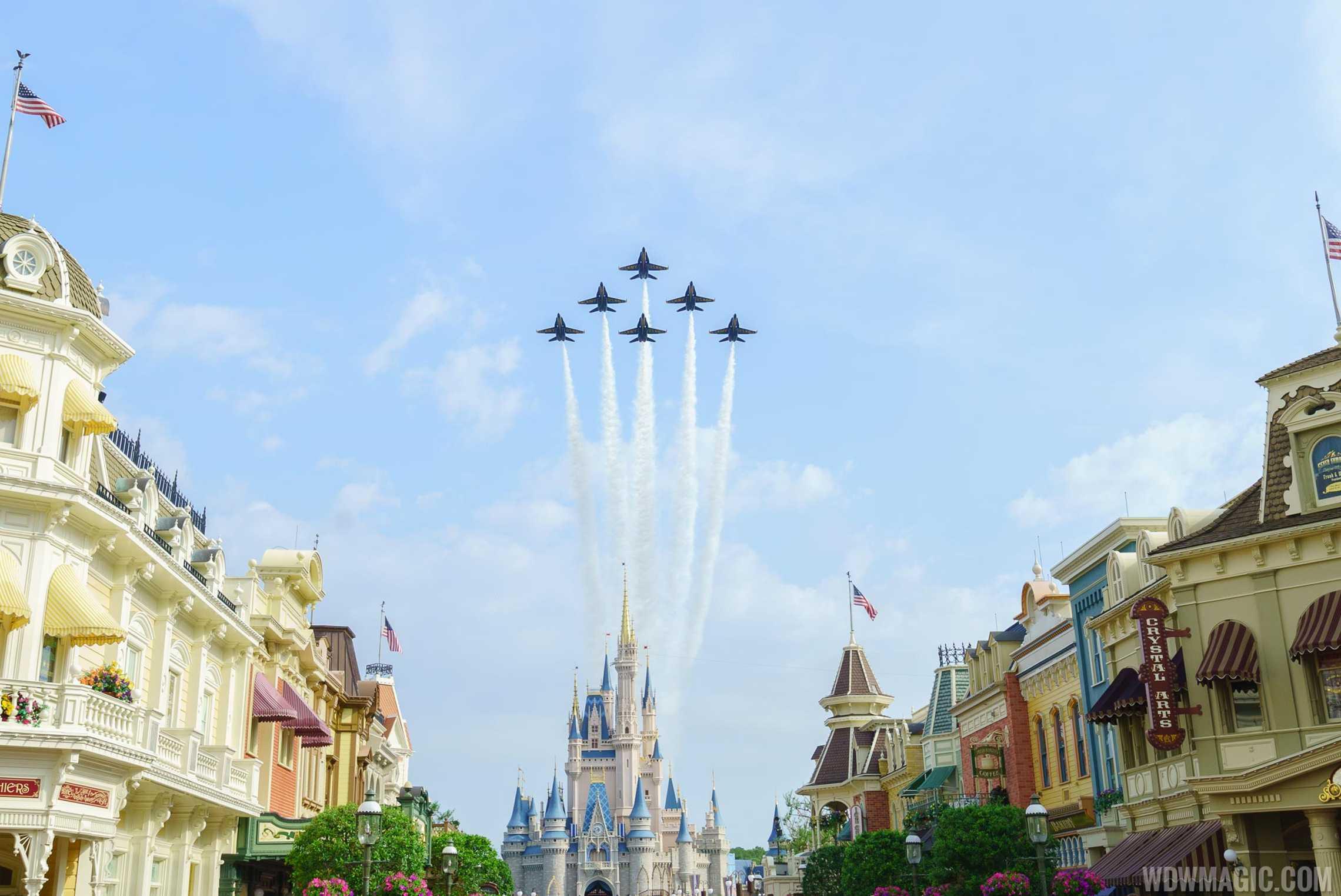 Blue Angels Cinderella Castle Flyover