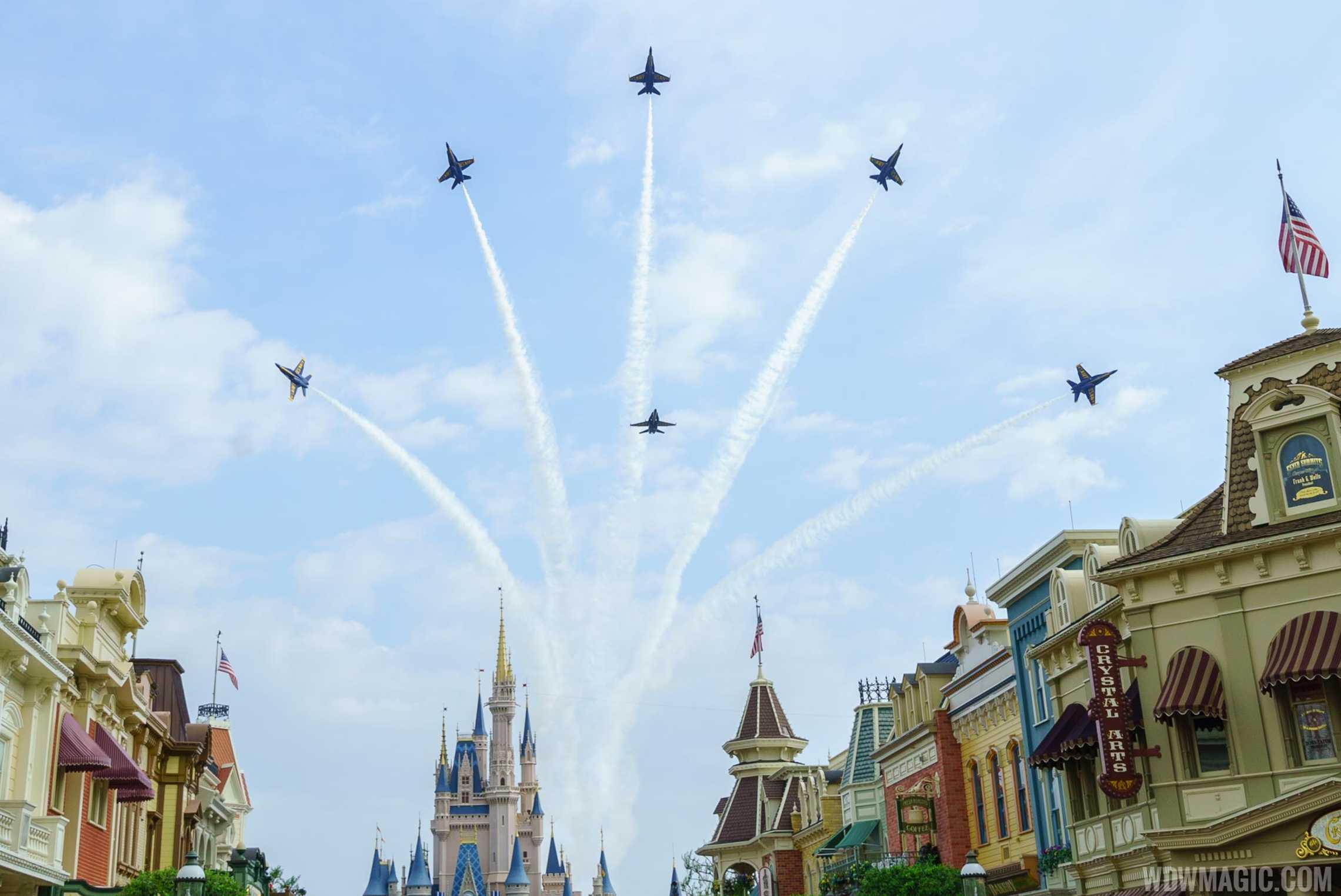 Blue Angels Delta Break over Cinderella Castle
