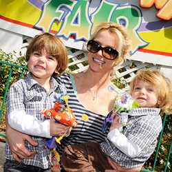 Britney Spears visits Magic Kingdom with sons Preston and Jayden