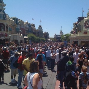 1 of 5: Magic Kingdom - A very busy daytime Main Street USA.
