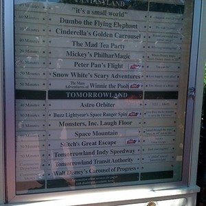 2 of 5: Magic Kingdom - The Tip board