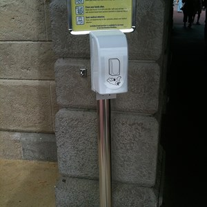 2 of 2: Magic Kingdom - One of the new hand sanitizers at the entrance to the Magic Kingdom