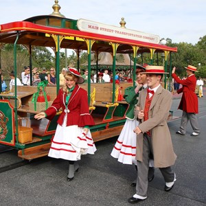 1 of 10: Main Street Trolley Show - Holly Jolly Trolley Show