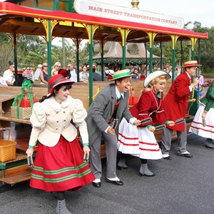 6 of 10: Main Street Trolley Show - Holly Jolly Trolley Show