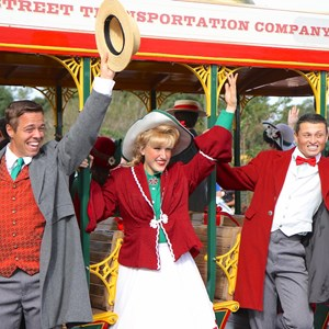7 of 10: Main Street Trolley Show - Holly Jolly Trolley Show