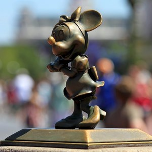 1 of 2: Main Street, U.S.A. - Hub area character statues