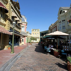1 of 6: Main Street, U.S.A. - Center Street refurbishment complete