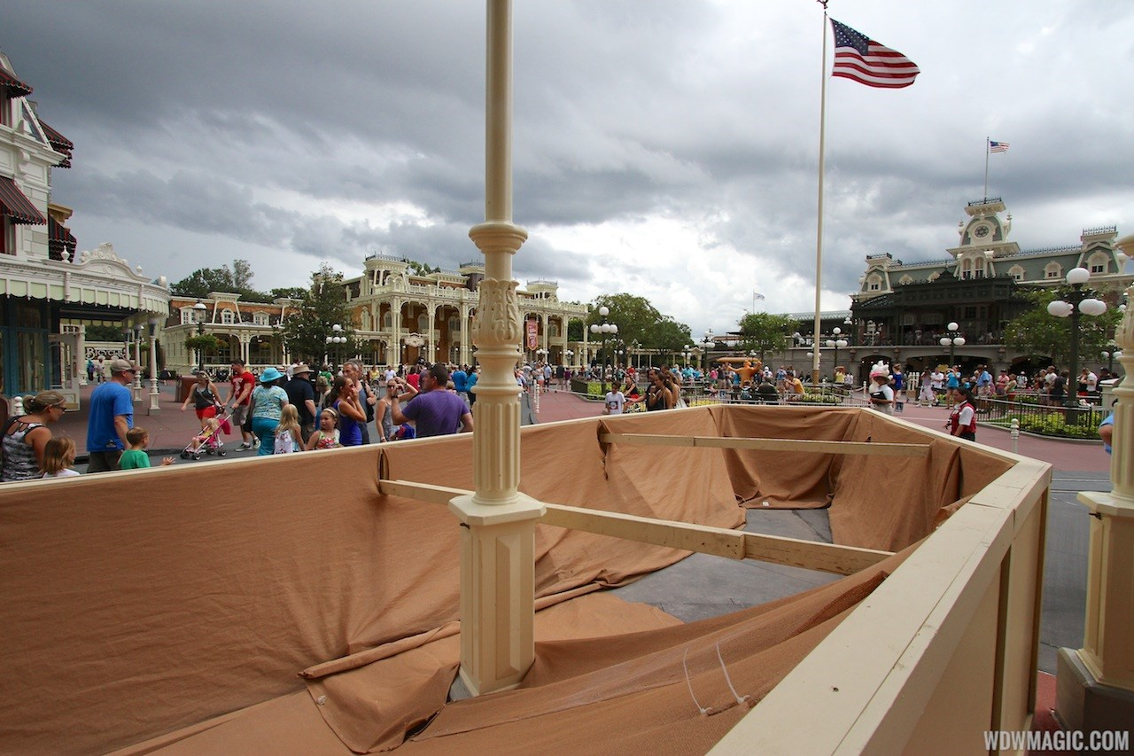 Main Street U.S.A concrete replacement