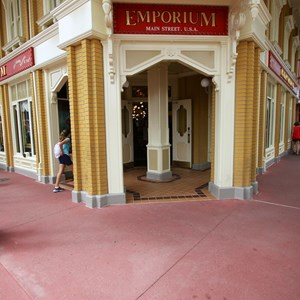 2 of 5: Main Street, U.S.A. - Completed section of new concrete on the corner of the Emporium