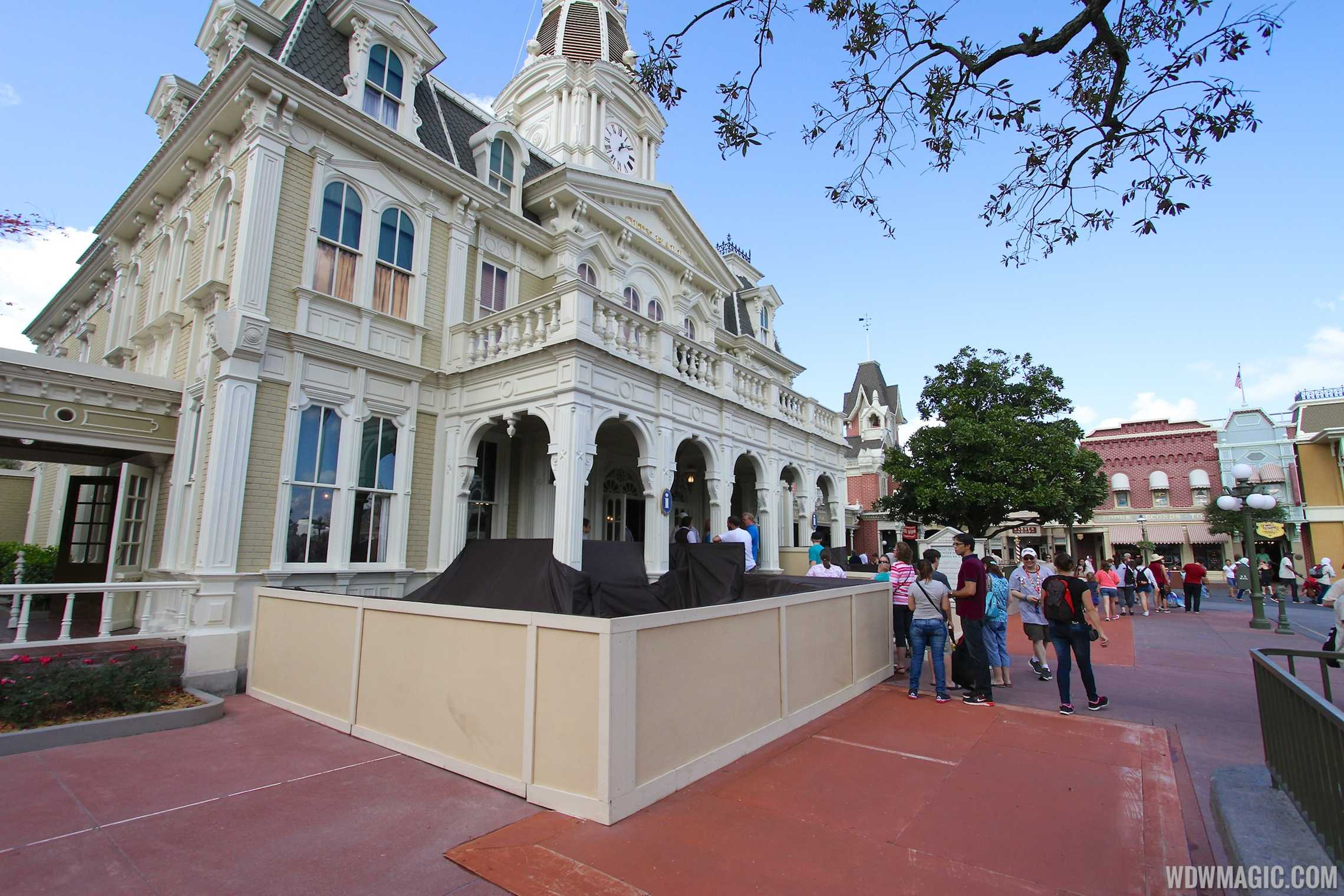 Concrete replacement along Main Street U.S.A.