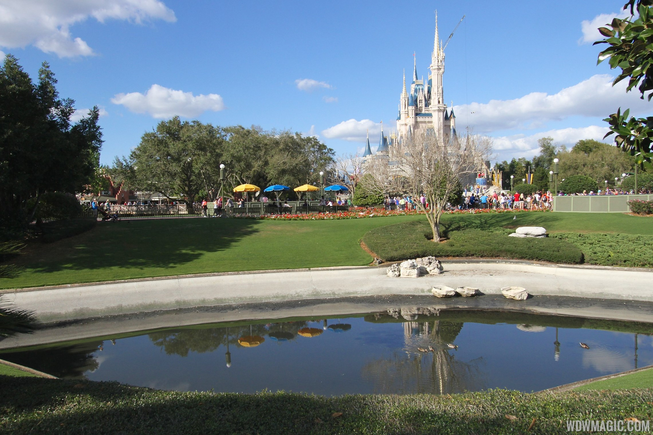 Magic Kingdom moats drained