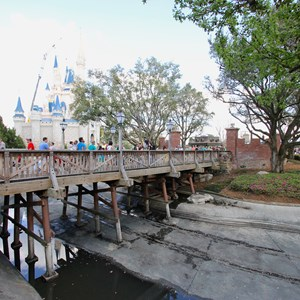 11 of 15: Main Street, U.S.A. - Magic Kingdom moats drained