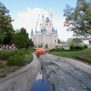 1 of 15: Main Street, U.S.A. - Magic Kingdom moats drained